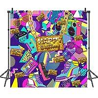 COMOPHOTO 80年代 90年代 テーマ 誕生日 写真 背景 グラフィティ ロック ラジオ ヒップホップ 80年代 90年代 パーティー バナー 装飾 ポートレート 背景