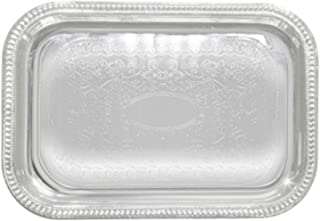 Winco Rectangular Tray, 18 by 12-Inch, Chrome