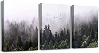 Canvas Wall Art for living room bathroom Wall Decor for bedroom kitchen artwork Canvas Prints forest Landscape painting 12