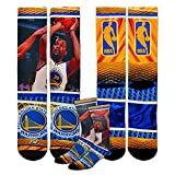 For Bare Feet Golden State Warriors Youth Size NBA Hardplay Kids Socks (4-8 YRS) 1 Pair - Kevin Durant #35