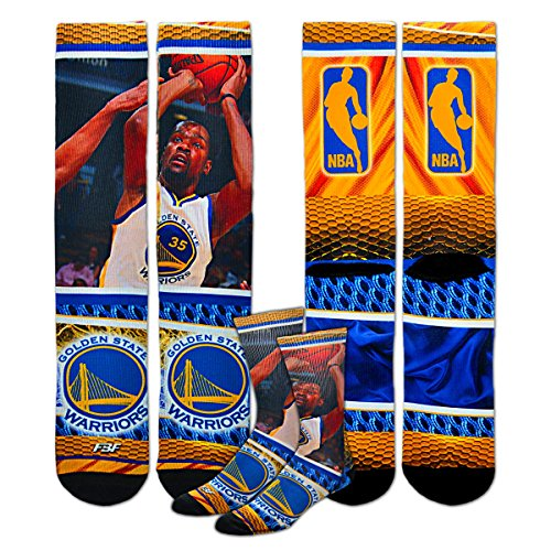 Tamaño de la juventud Golden State Warriors Nba hardplay Kids calcetines (4–8años) 1par–Kevin Durant # 35