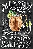 Schatzmix Blechschild Cocktail Rezepte Moscow Mules