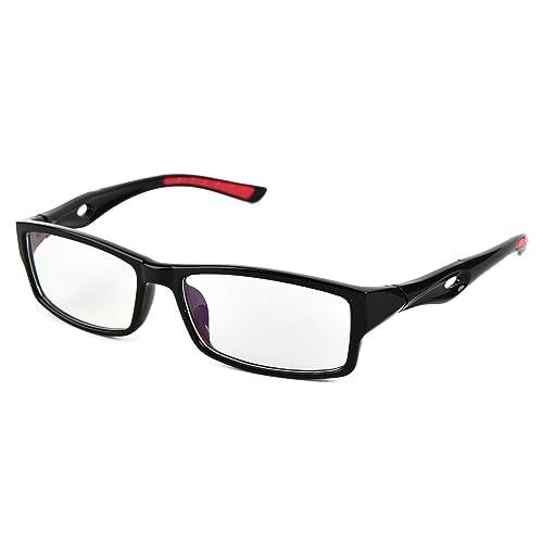 f5fdae403084 Beison Sports Optical Eyeglasses Frame Plain Glasses Clear Lens UV400