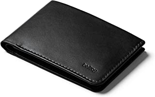 Bellroy Low Wallet, Slim Leather Wallet (Max. 12 Cards and Flat Bills) - Black