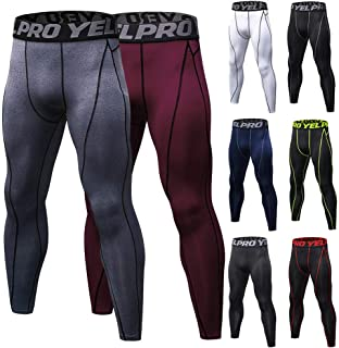 Gecheer 2 Pack Men Quick Dry Running Leggings Compression Tights Gym Training Fitness Sport Trousers Leggings Male Underwear