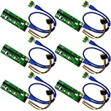 MintCell 6-Pack PCIe 16x to 1x Powered Riser Adapter GPU Riser
