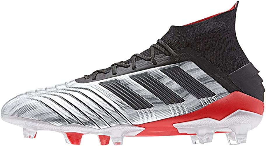 adidas Predator 19.1 FGSILVMT,CBLACK,HIRERE (Men's) : Amazon.fr ...