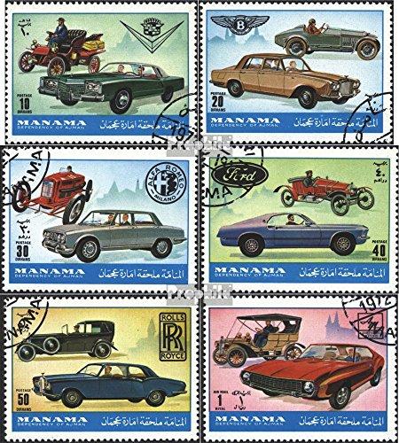Prophila Collection Manama 946-951 (Completa Edizione) 1972 Automobile (Francobolli per i Collezionisti) Traffico Stradale