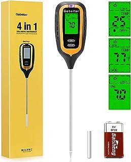 رطوبت سنج خاک Gobetter ، دستگاه اندازه گیری رطوبت خاک 4 در 1 گیاه با رطوبت / pH / نور / دما برای باغ ، چمن ، مزرعه ، محیط داخلی