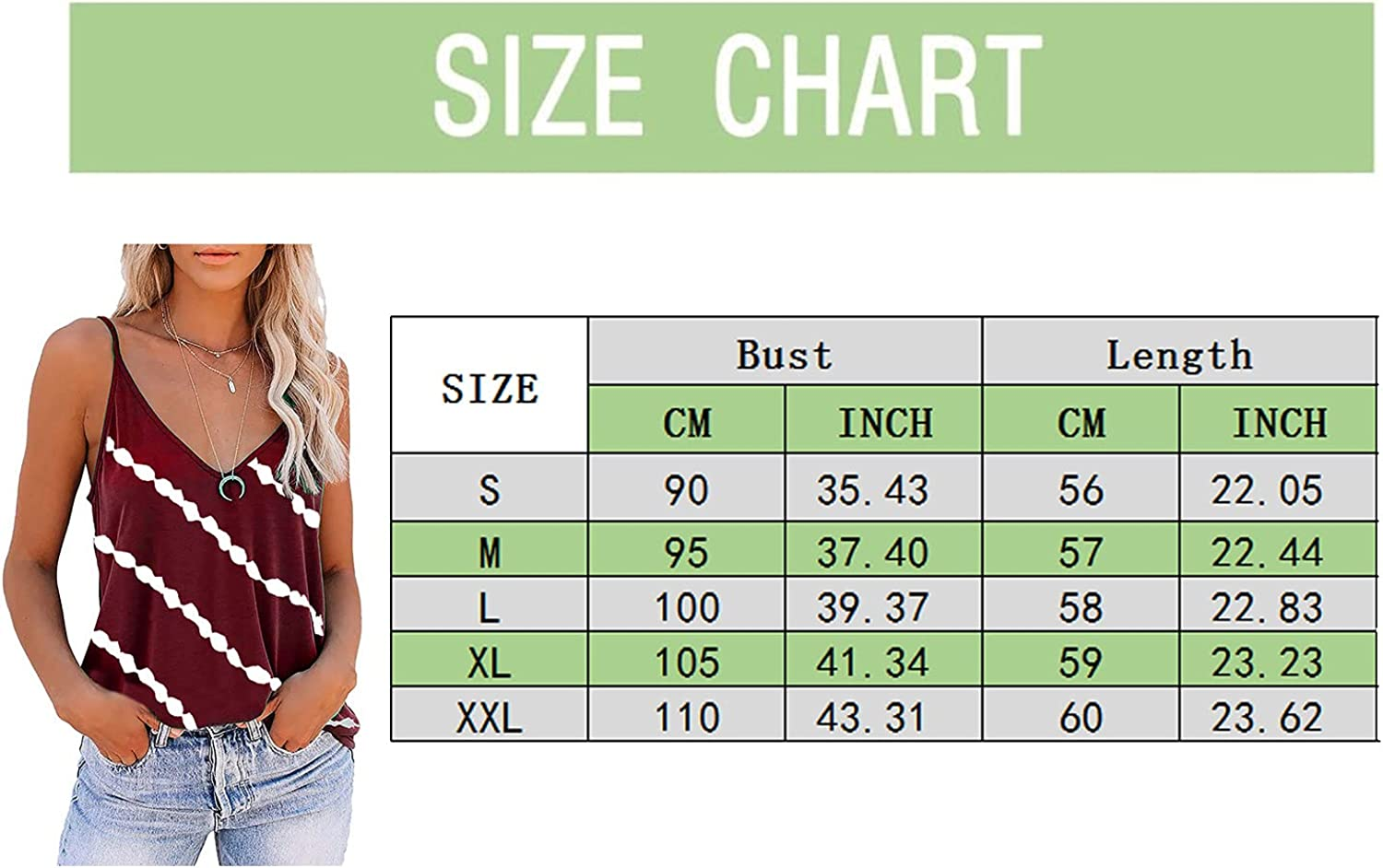 POLLYANNA KEONG Tops for Women Casual Summer Plus Size,Women's V Neck Vest Pattern Flowy Summer Loose Blouses