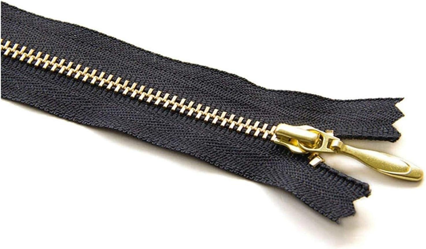 Lieber Lighting Decorative Zipper Gold Metal Teeth Zipper Closed