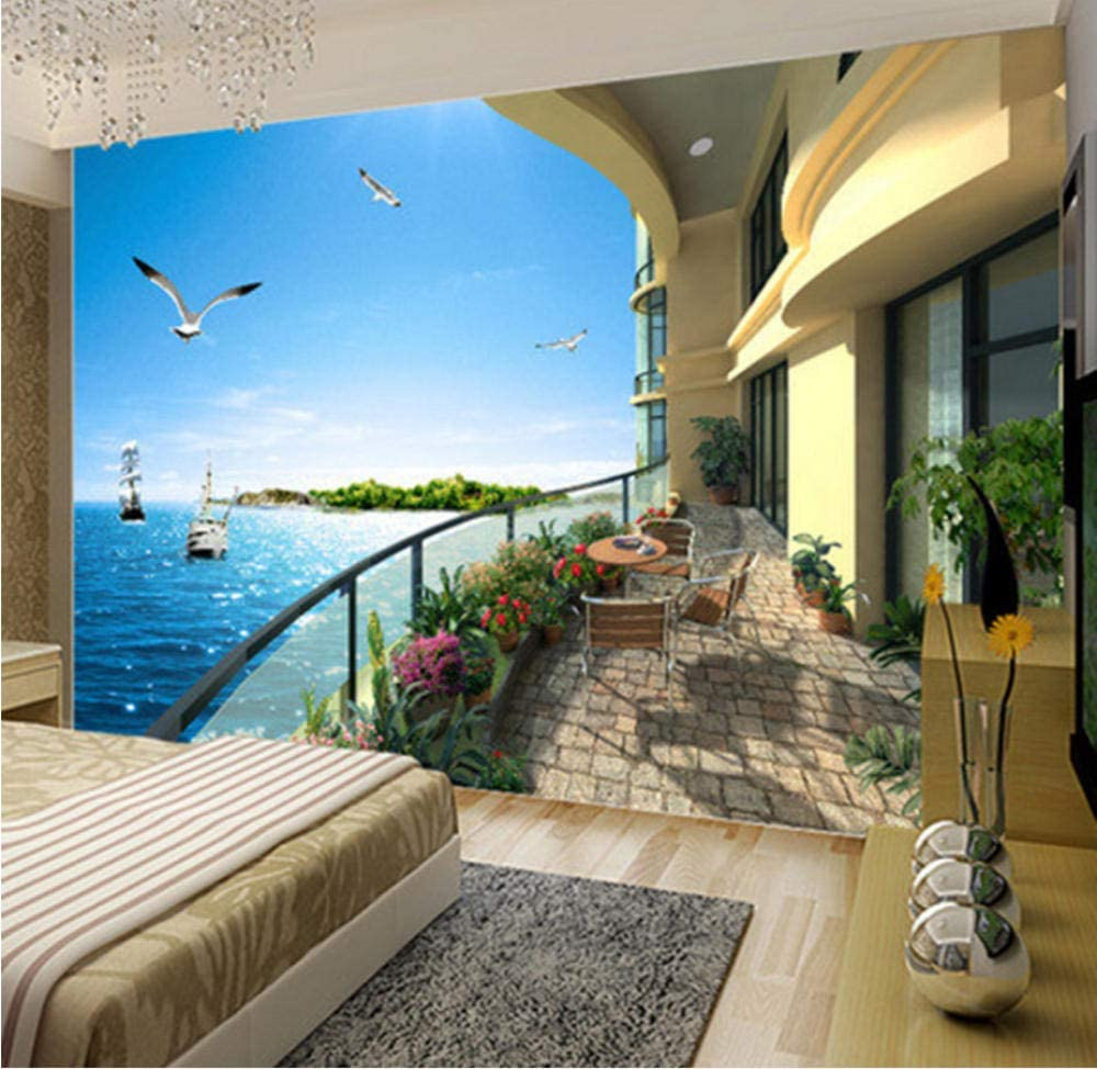 Beach Villa Photo Wallpaper Mural Daily bargain sale Wall Bedroom Living Room Paper 100% quality warranty!