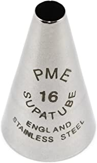 PME ST56R Bocchetta Decorativa Professionale 1.72 x 1.72 x 3.33 cm Acciaio Inossidabile Argento