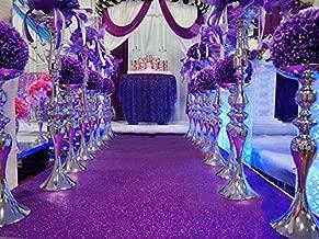 TRLYC Purple Wedding Aisle Runner Glitter Carpert Runner-4FTx30FT
