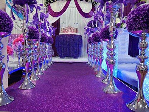 TRLYC Purple Wedding Aisle Runner Glitter Carpert Runner-4ftx16ft