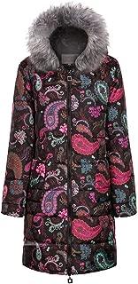 Forthery 2019 Women Parkas Faux Fur Women's Winter Padded Jackets Warm Fashion Long Sleeve Zipper Print Ladies Clothing