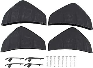 NewYall Pack of 4 Matt Rear Bumper Diffuser Fin Spoiler Lip Wing Splitter