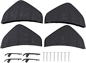 NewYall Pack of 4 Matt Rear Bumper Diffuser Fin Spoiler Lip Wing Splitter