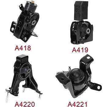 4pc Motor Mounts Set Kit for Toyota Corolla Pontiac Vibe - 1.8L 4Cylinder Automatic Transmission 03-06 Engine Mounts Matrix 03-07 all motor mounts toyota matrix 2003 03-08
