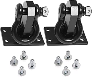 ELITEWILL Short Size Universal Heavy Duty Front Tow Hooks Fit for 2010-2019 Dodge Ram 2500/3500