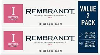 رامبراند دندان خالص رنگ آمیزی شدید، طعم نعناع، 3.52 اونس (2 بسته)