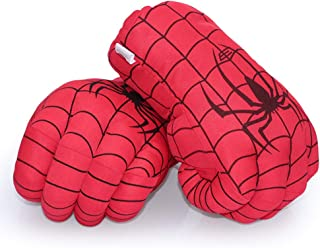 Aenmil Spiderman Hands, Soft Plush Kids Boxing Gloves Super Hero Spiderman Fists Cosplay Costume Toy Fists for Birthday Christmas