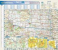 サウスダコタ州壁マップ - 17.75インチ x 15.25インチ ラミネート加工
