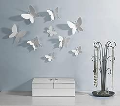 Umbra Mariposa – Metal Wall Décor, White, Set of 9