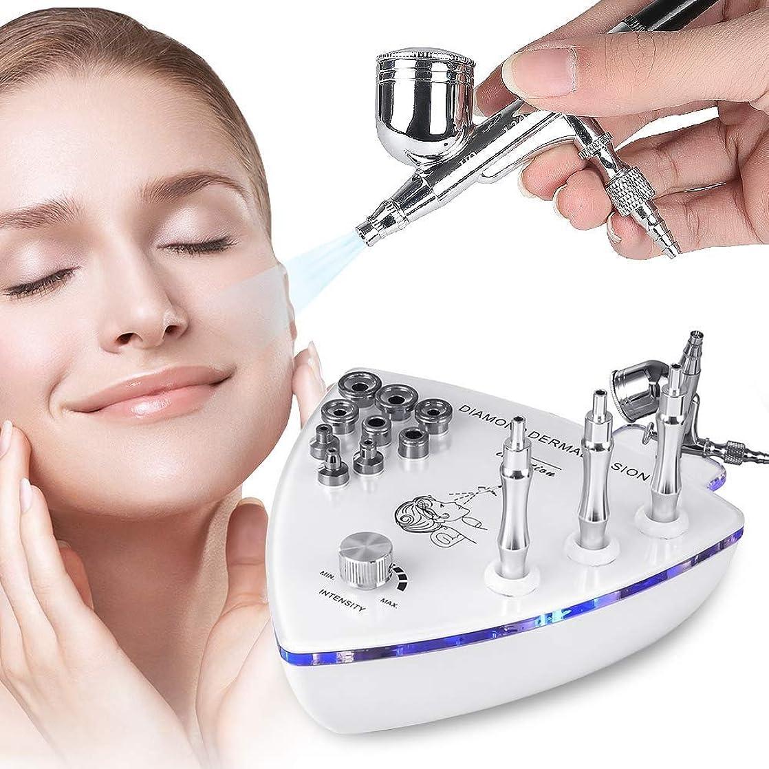 エレベーター頭アスレチック1でスプレーガン、皮の皮の若返り、美装置をきつく締める改装の皮、専門の家の使用顔の美容院装置が付いているダイヤモンドのマイクロダーマブレーション機械3つ1つ (Edition : EUR PLUG)