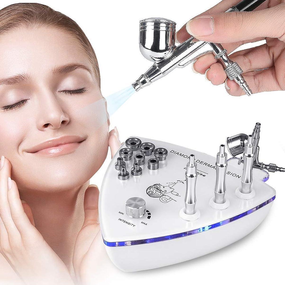 自明ミネラル原告1でスプレーガン、皮の皮の若返り、美装置をきつく締める改装の皮、専門の家の使用顔の美容院装置が付いているダイヤモンドのマイクロダーマブレーション機械3つ1つ (Edition : EUR PLUG)
