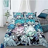 Svvsovs 3D lecho de Imprimir Duvet Cover Set 135 x 200 cm bedcloth con la Funda de Almohada Juego de Cama Textiles for el hogar Individual Doble Rey Queen Size Personaje de Anime de Dibujos Animados