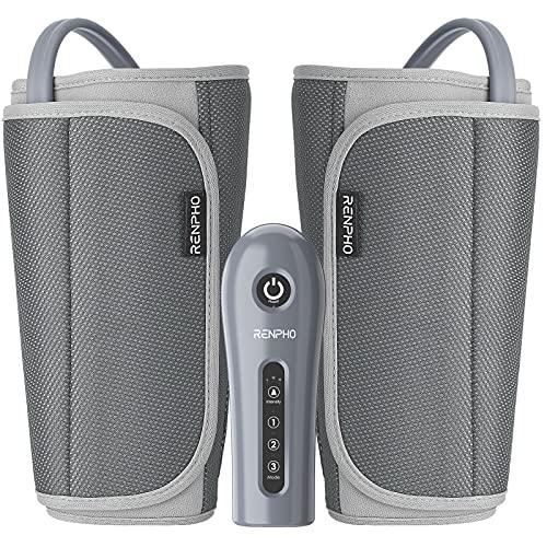 RENPHO Beine Massagegerät, Wadenmassagegerät mit 3 Modi 3 Intensitäten, Oberschenkelbeinmassagegerät für verstellbaren Beinwickel passend für meisten Größen zur Fußentspannung und Schmerzlinderung
