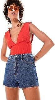 Short Jeans Perna Solta
