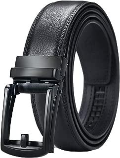 Mens Belt, Click Ratchet Belt For Men, Dress Belt with Silding Buckle Size-Customize