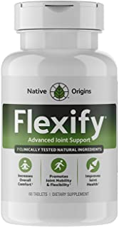 FLEXIFY – Glucosamine with Chondroitin Turmeric MSM Boswellia D3 & Ginger Root – Natural Non-GMO Joint Pain Relief Supplem...