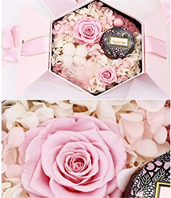 Amazon.com: Gigante Flor de, Eternal rosa caja de regalo ...
