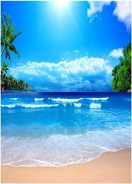 Ledmomo Spiaggia Sfondo Studio Fotografico Panno 3d Mare Fotografie Parete Di Sfondo Puntelli 90 X 150 Cm Blu Amazon It Elettronica