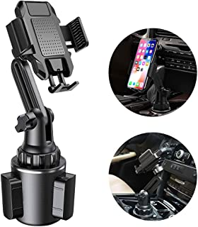 Upgraded Car Cup Base Phone Holder, Adjustable Cup Cradle Car Mount Compatible with Cell Phone Samsung S10+/Note 9/S8 Plus/iPhone 11 Pro/XR/XS Max/X/8/7 Plus, GPS etc