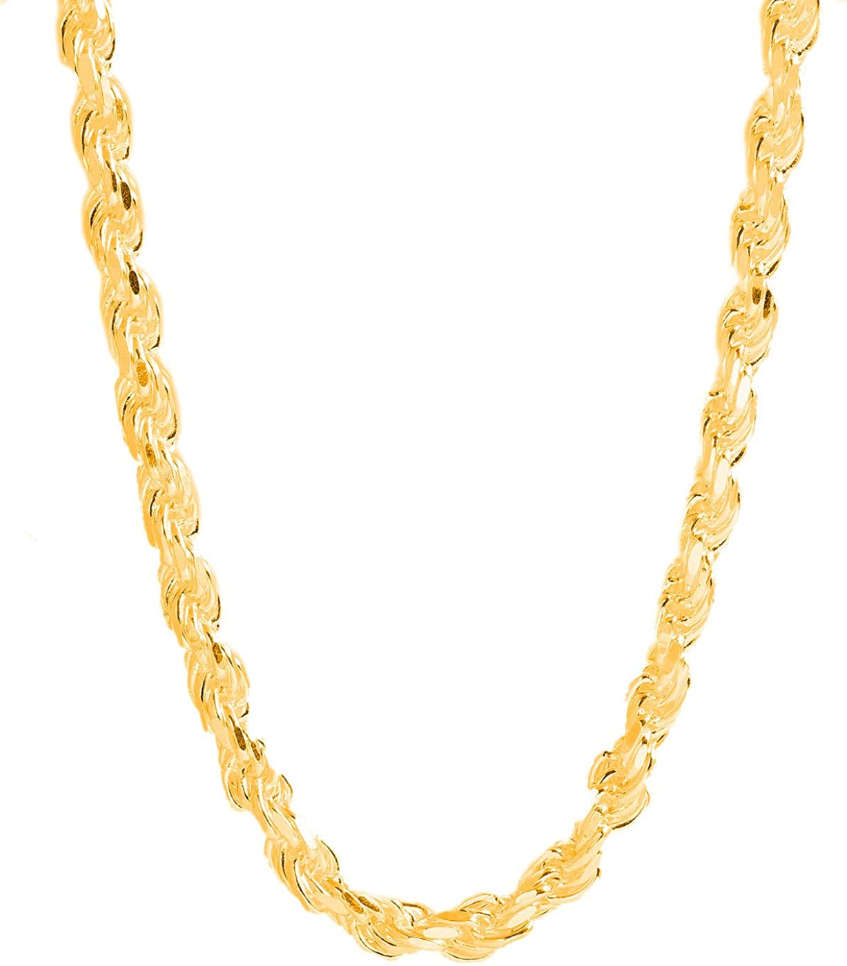 PORI JEWELERS Gold Ranking TOP12 Plated Sterling Rope Spasm price Diamond Silver Chain Cut