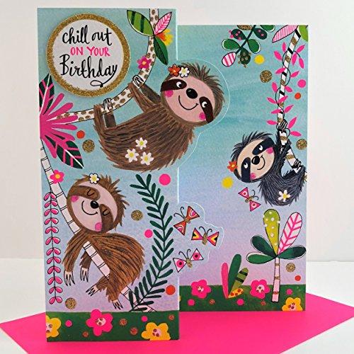 Rachel Ellen Geburtstagskarte, Motiv: Faultier