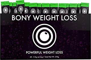 Bony Weight Loss: Tropical Flavor 60 Count Sticks with Garcinia Cambogia, Green Coffee Bean, Noni & Yacon - Diet Drink for Men and Women - Carb Blocker & Appetite Suppressant to Help Weight Loss