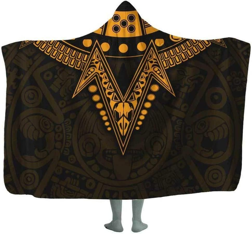 Outlet ☆ Free Shipping Personalized Eagle Warrior Hooded Blanket Bedding Wear Inventory cleanup selling sale Sofa Home