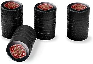 Graphics and More Firefighter Fire Rescue Maltese Cross Tire Rim Wheel Aluminum Valve Stem Caps