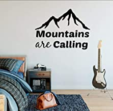 Ojyfa 50X70Cm Mountains Are Calling Wall Decal Adventure Motivat Pvc Wall Sticker