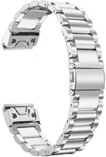 Fenix 5S Quick Fit Watch Band, YOOSIDE Quick Fit 20mmStainless Steel Metal Replacement Watch Band Strap for Garmin Fenix 5...