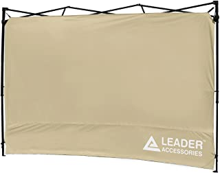 Leader Accessories Instant Canopy SunWall Side Wall for 10x10 Feet, 10x20 Feet Straight Leg pop up Canopy, 1 Pack Side Wall Only, Beige