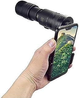 4K Monocular Telescope Smartphone Lens 10-300x40mm Zoom High Power HD Monocular with Smartphone Holder & Tripod Bak4 Prism...