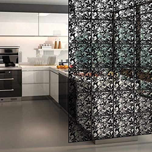 Y-Step Hängender Raumteiler, Paravent, Hängepaneel für Zuhause, Hotel, Büro, Bar, Dekoration, 12 Stück Black(abs Material)