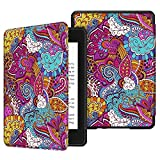 Fintie Slimshell Case for All-New Kindle Paperwhite (10th Generation, 2018 Release) - Premium Lightweight PU Leather Cover with Auto Sleep/Wake for Amazon Kindle Paperwhite E-Reader, Vector Purple
