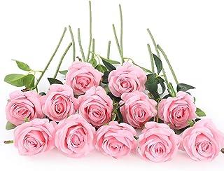 Artificial Roses Rose Bouquet Silk Roses Fake Rose Stems Faux Roses 5 pcs 27.55 7 Colors Roses Flower Bouquet Rose Bush